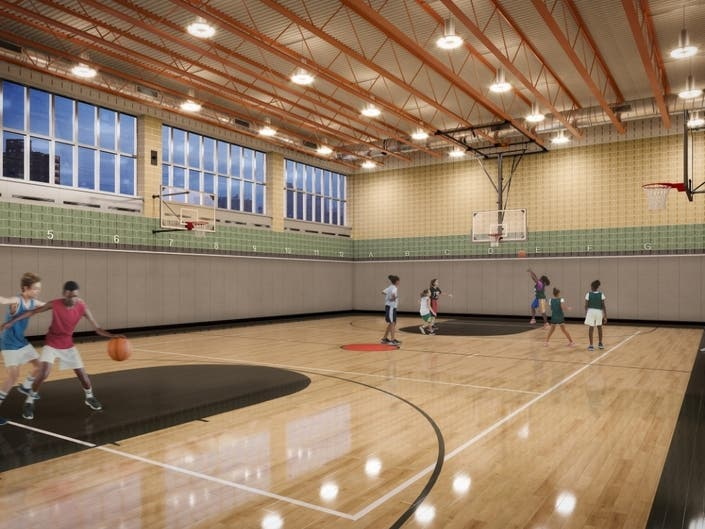 The new gym facility for Eleanor Roosevelt High School should open by 2021 across the street from the school.