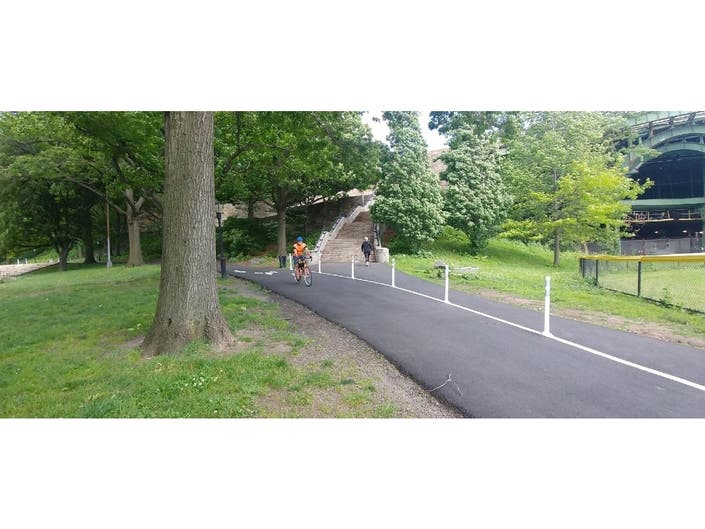 Detour Separates Cyclists From Pedestrians In Riverside Park