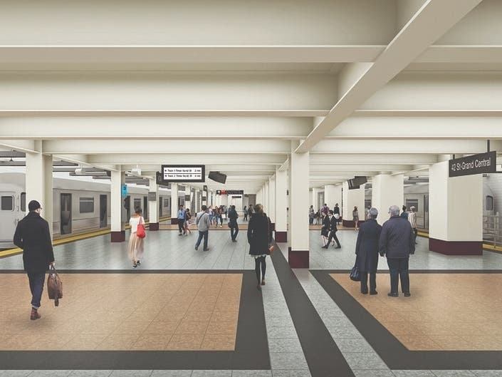 MTA Reveals Renderings For Renovated 42nd Street Shuttle