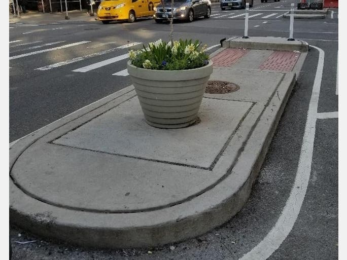 Planters were recently installed at four intersections on Second Avenue in the East 90s.