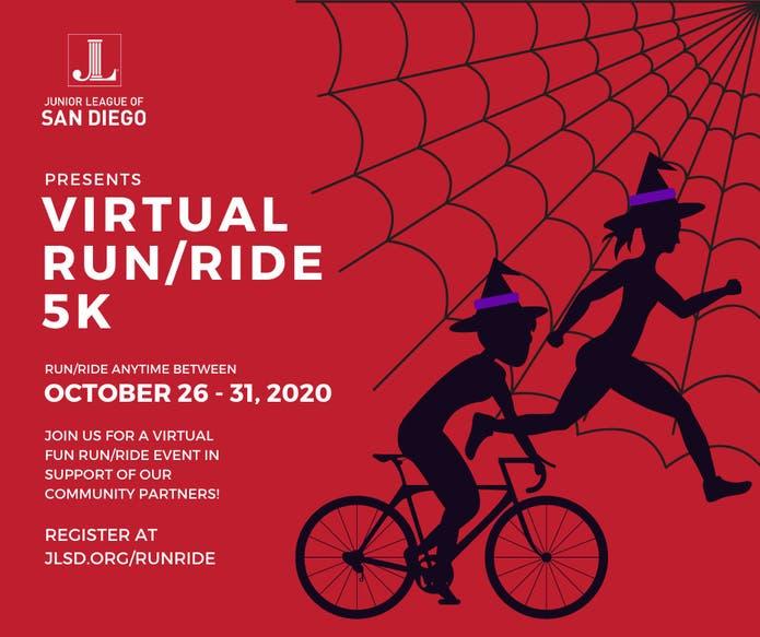 Halloween Event League 2020 Oct 26 | Junior League of San Diego Virtual Halloween Run/Ride 5K