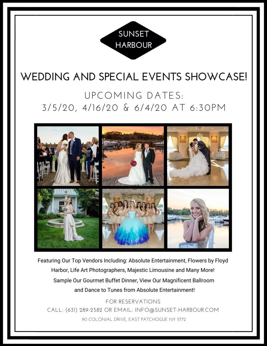 Hamptons Real Estate Showcase: Wedding And Special Events Showcase At Sunset Harbour!