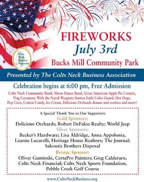 Colts Neck And Marlboro Fireworks Info   Marlboro, NJ Patch
