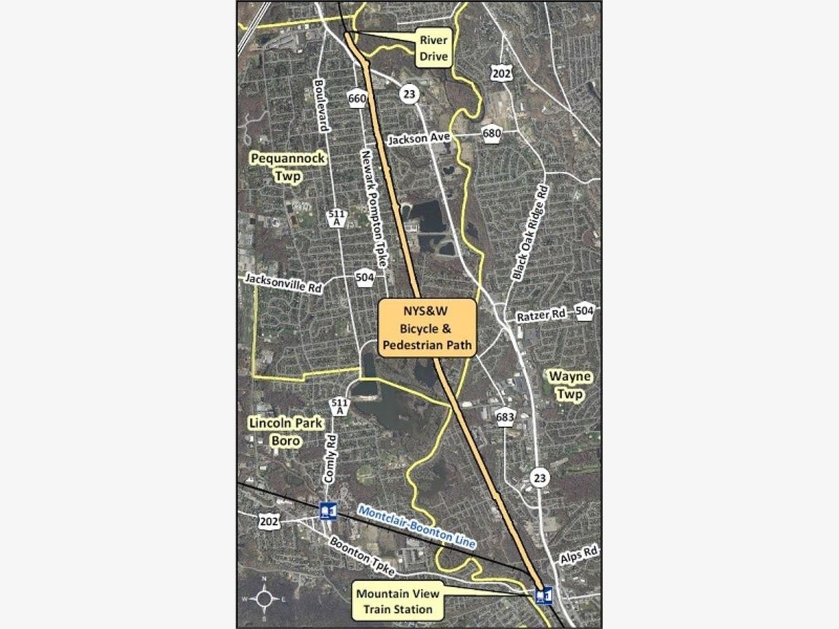 Morris County Plans New Rail Trail In Pequannock And Wayne