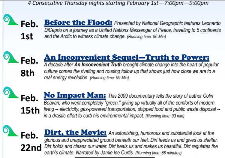 Environmental Documentary Film Series At Secaucus Library