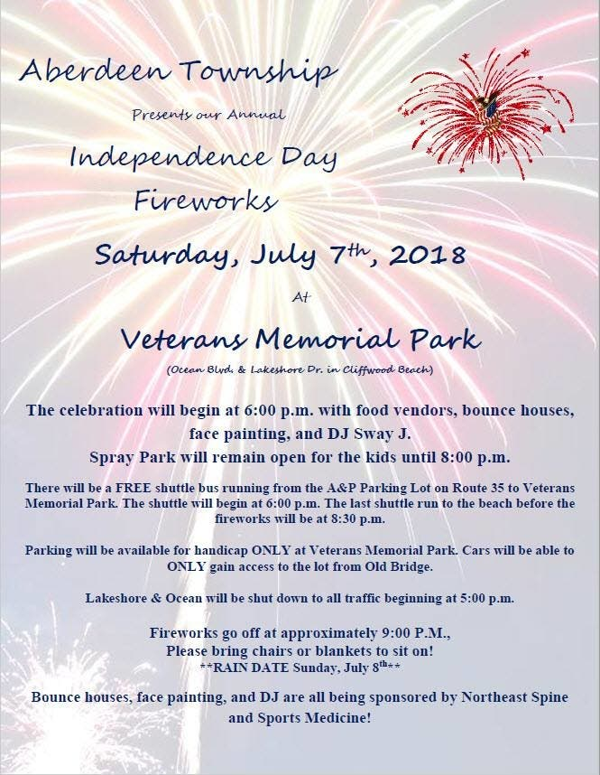 Aberdeen July 4th Fireworks, Parades and More: 2018 Guide | Matawan