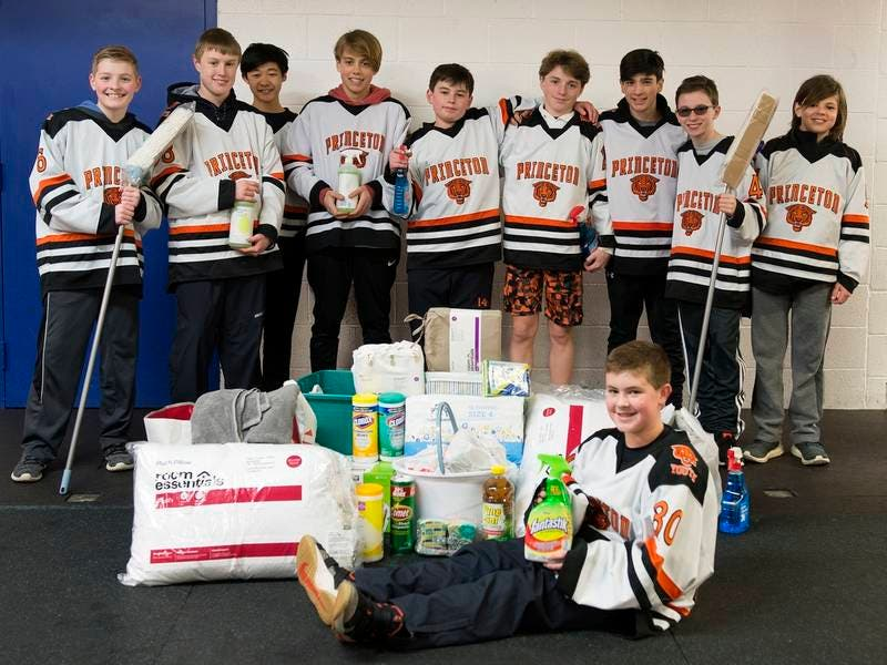 Princeton Youth Hockey Collects Household Goods For Those In Need