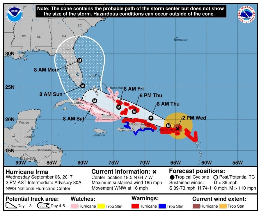 Chances That Hurricane Irma Could Hit Georgia Increase Peachtree