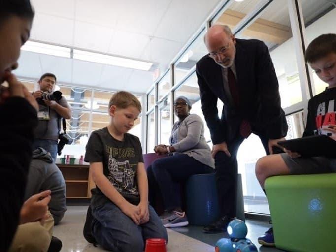 Gov. Wolf Visits Levittown School To Talk STEM