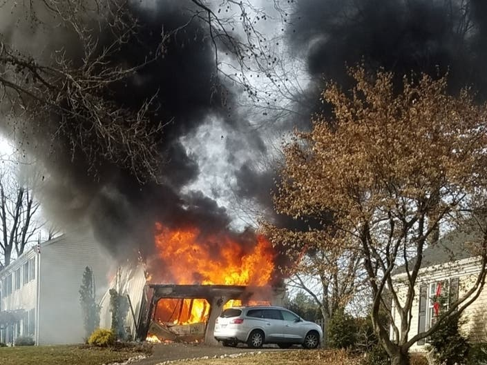 The fire, in the Holland section, happened around noon on Christmas Day.