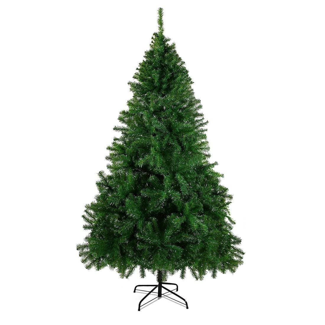 cheers 75 foot premium christmas pin tree this easy to assemble evergreen has thick full branches and plenty of needles that youll never need to sweep
