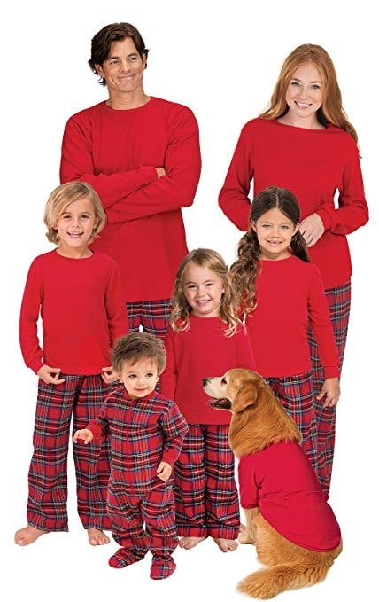 pajamagram red flannel stewart plaid matching family christmas pajama set get the whole family decked out for the holidays in this fun and festive patterned