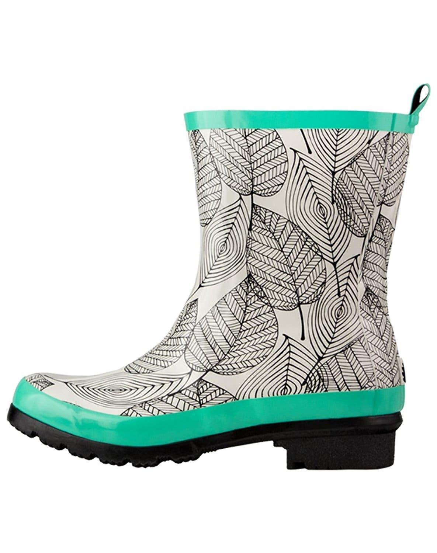 Patterned Rain Boots Simple Design