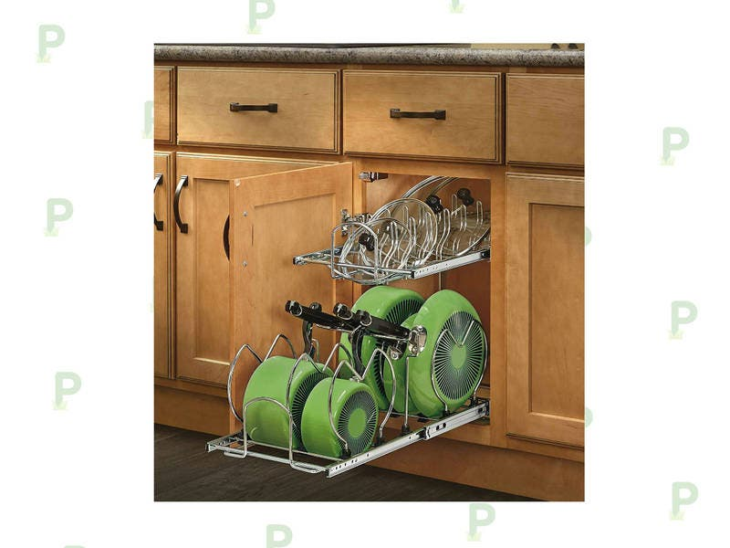 cabinet pots and pans organizer this cookware cabinet organizer is a must for every 13004