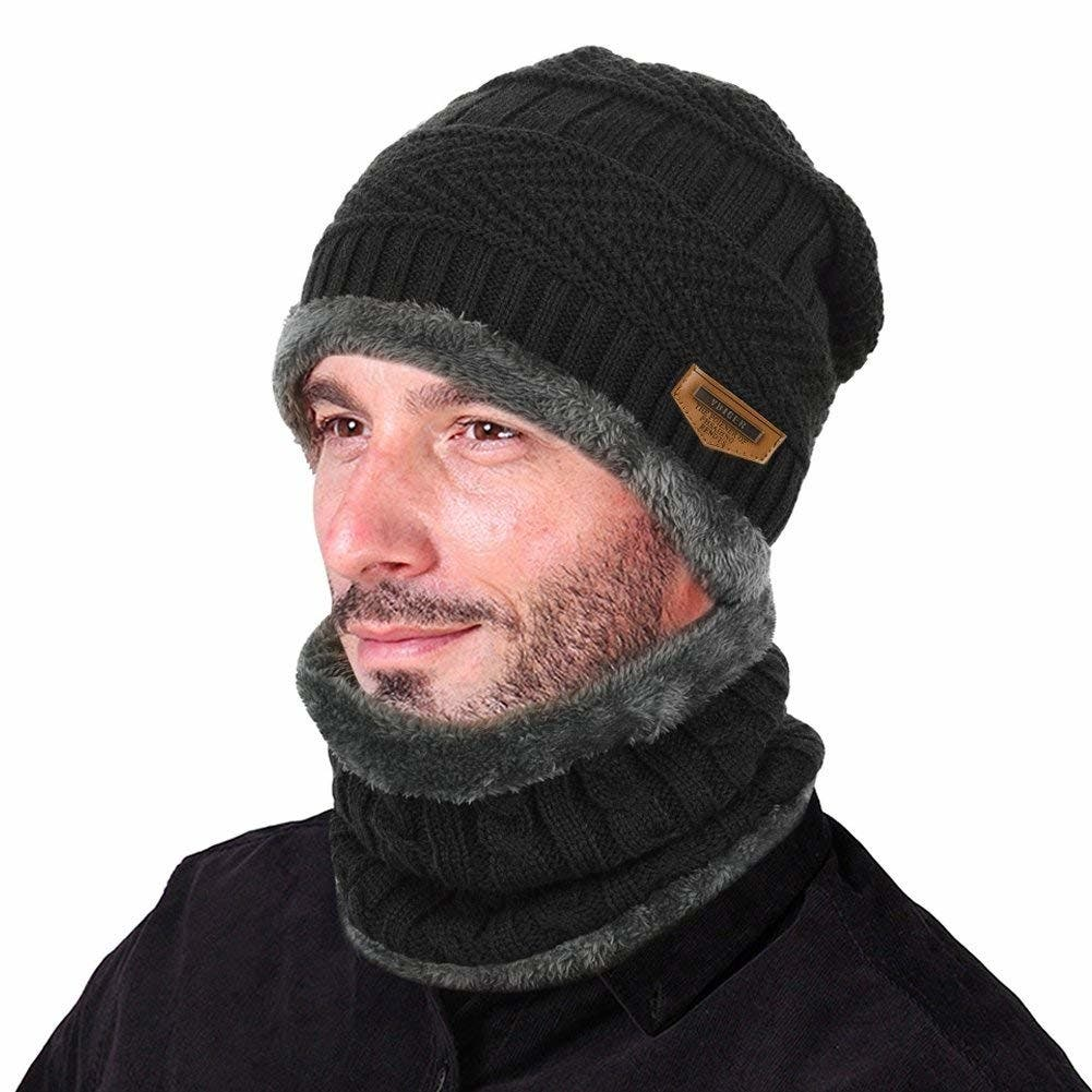 VBIGER 2-Piece Winter Hat and Scarf Set 164d39c13573
