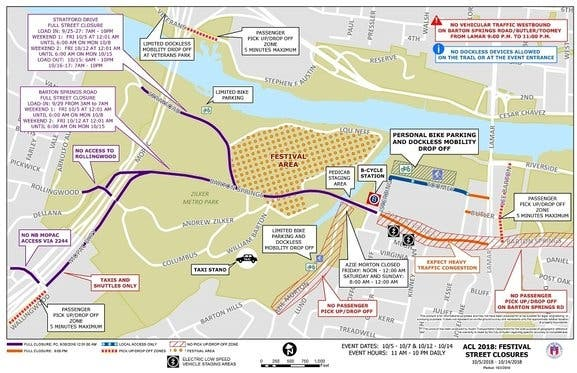 Acl Music Fest Survival Guide Roads Closed Allowed Banned Items
