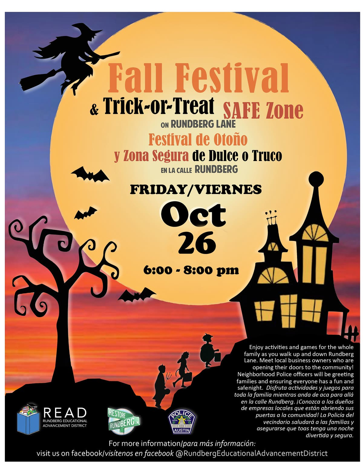 North Austin Fall Festival & Trick-Or-Treat Safe Zone