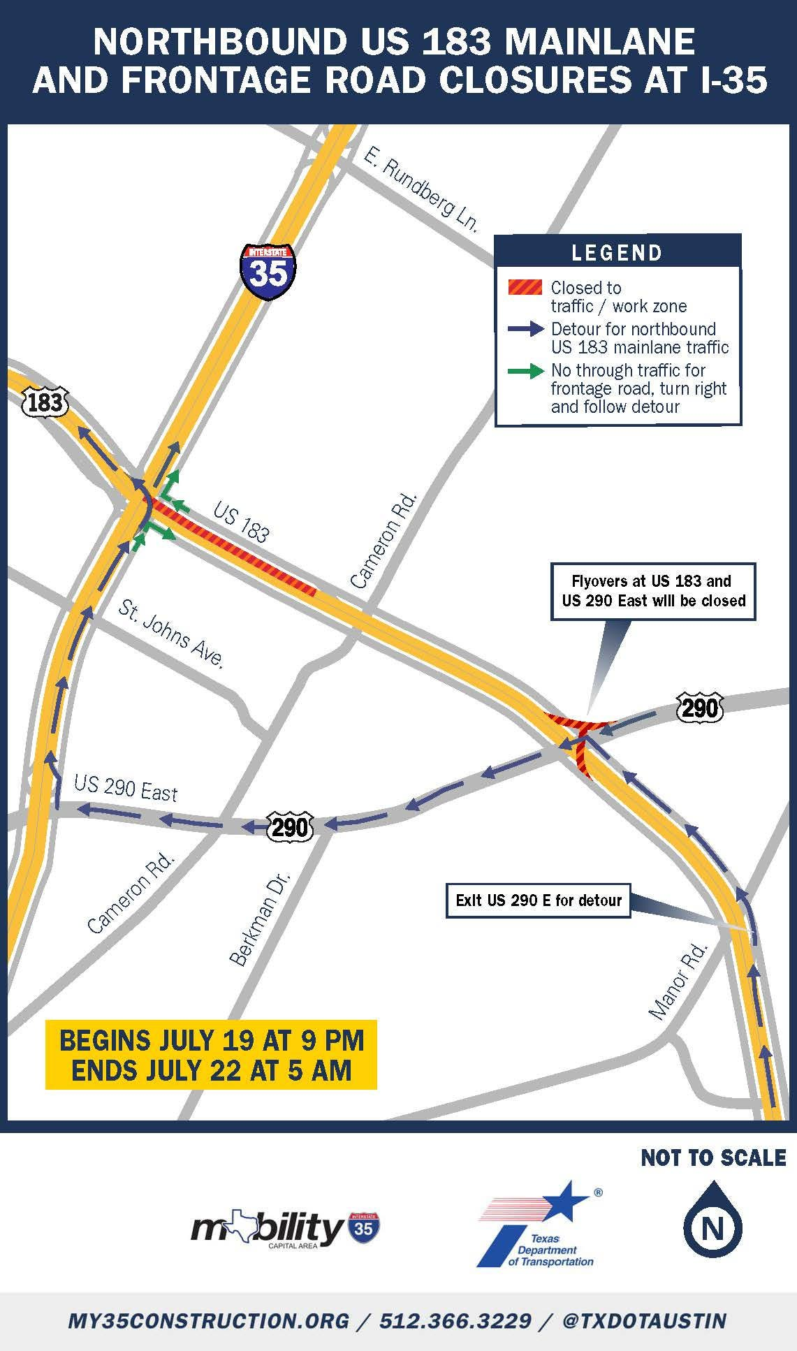 Interstate 35 Lane Closures: July 20-26, 2019 | Downtown