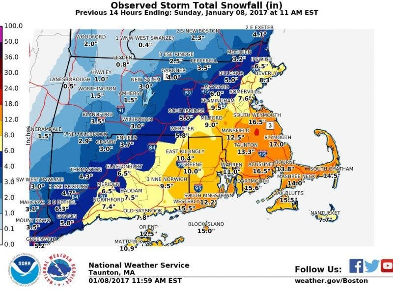 Machusetts Town-by-Town Snow Totals | Boston, MA Patch on