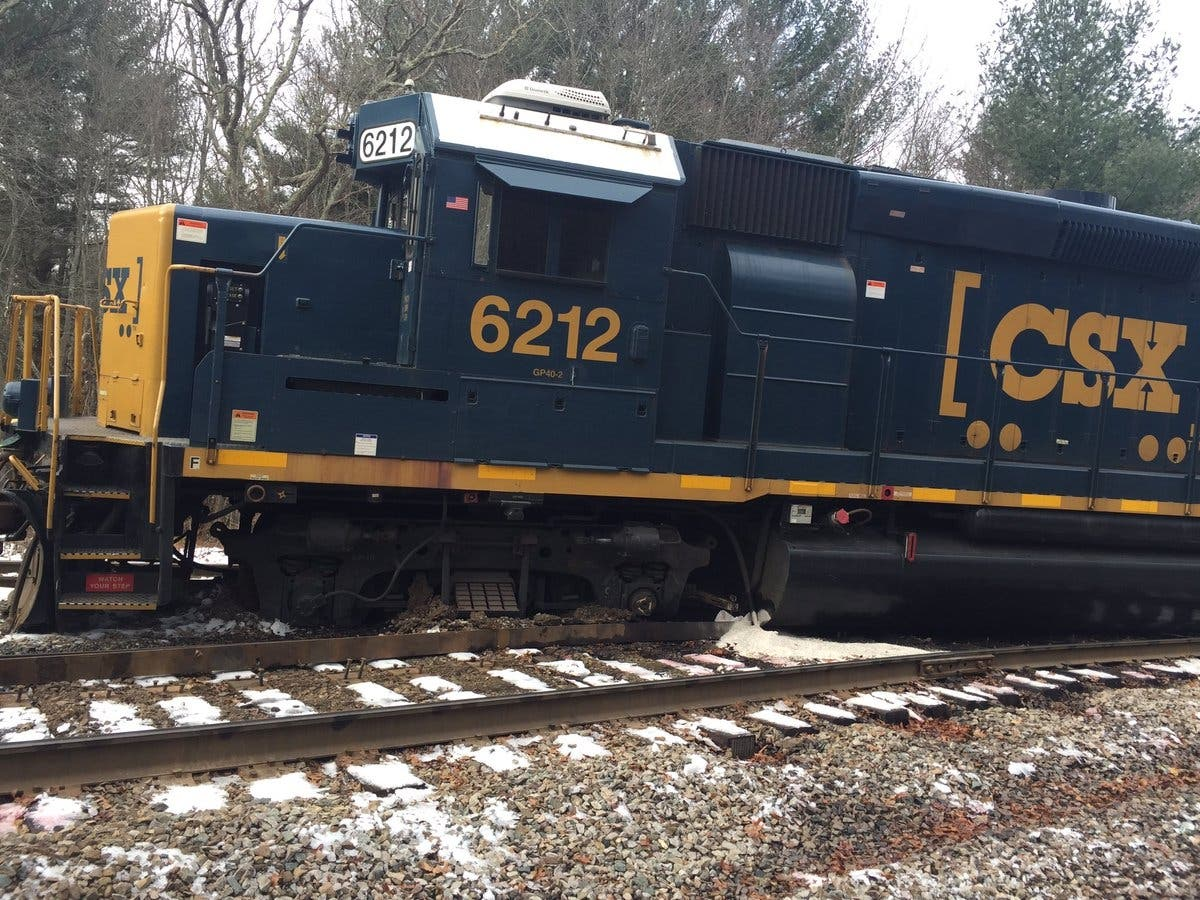Freight Train Derails, Spills 1,800 Gallons Of Fuel In