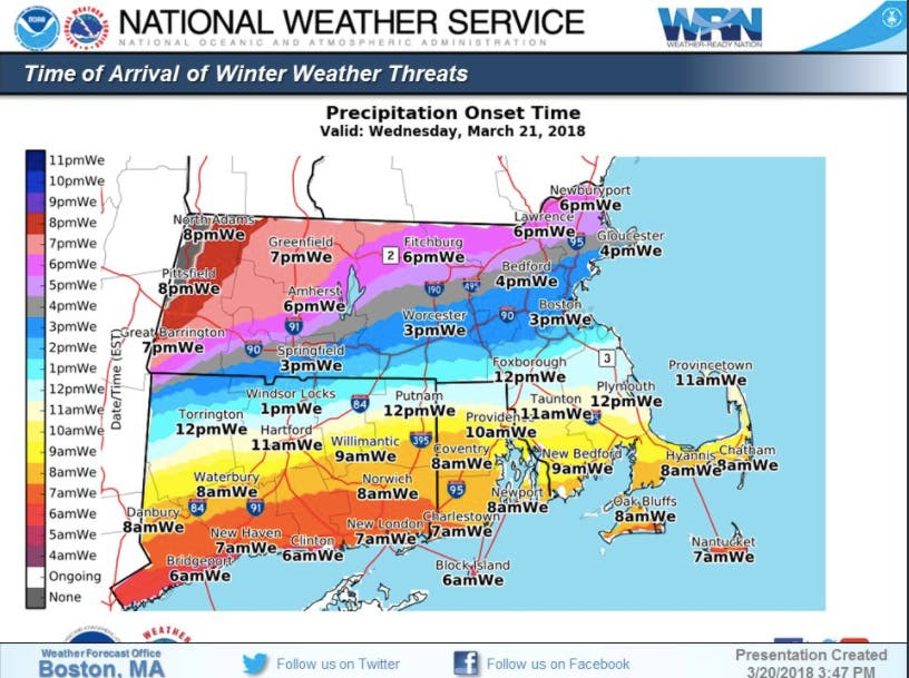 Ma Weather Forecast Nor Easter S Last Minute Changes Boston Ma Patch