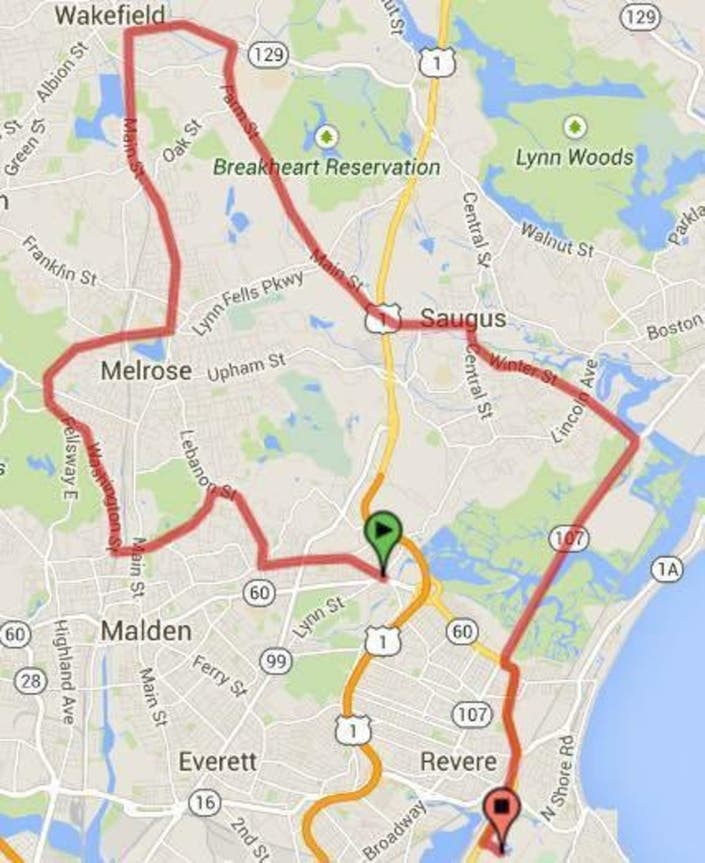 Melrose Motorcycle Traffic: Wounded Veterans Motorcycle Ride