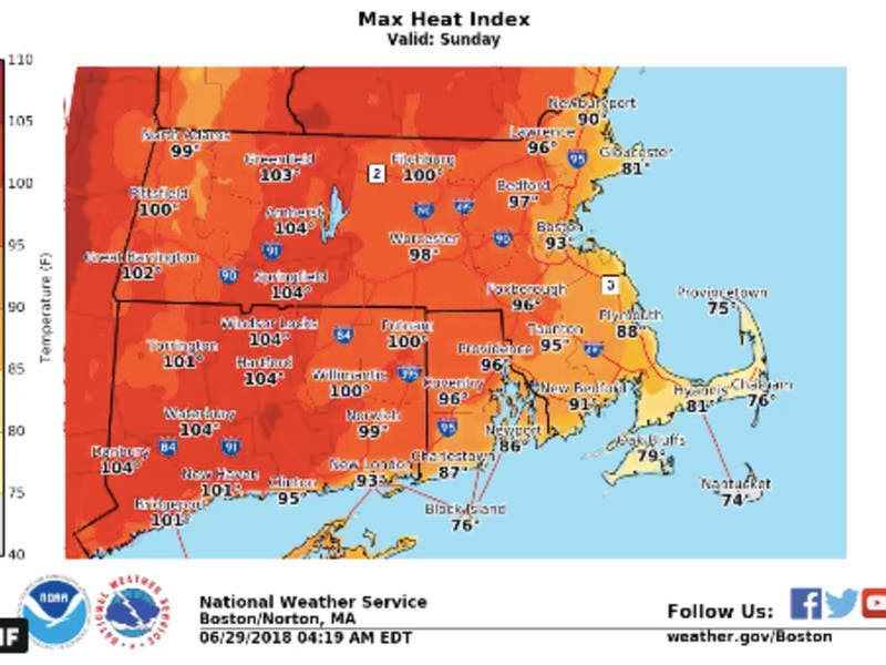 ma weather forecast heat wave could last 7 days boston ma patch