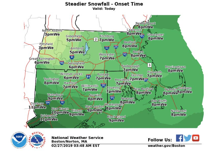 RI Weather: When Snow Will Start Tonight, Stop Tomorrow