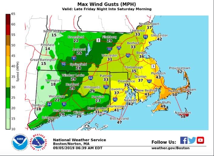 Hurricane Dorian Inches Closer To MA