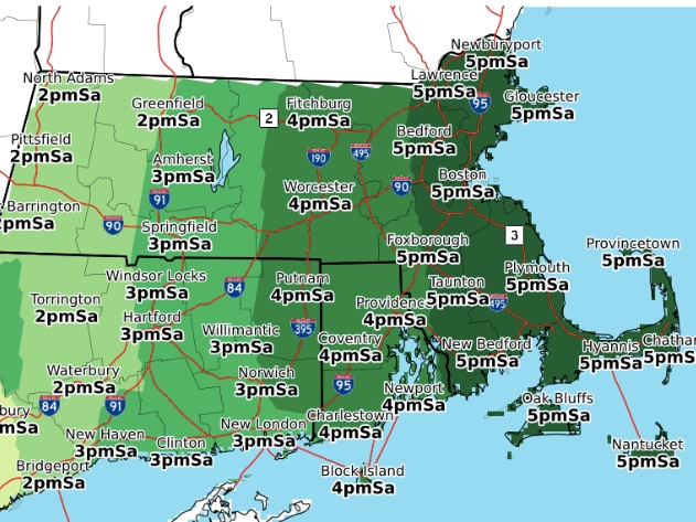 MA Weather: Weekend Storm Detailed, Snowfall Amounts, Timing