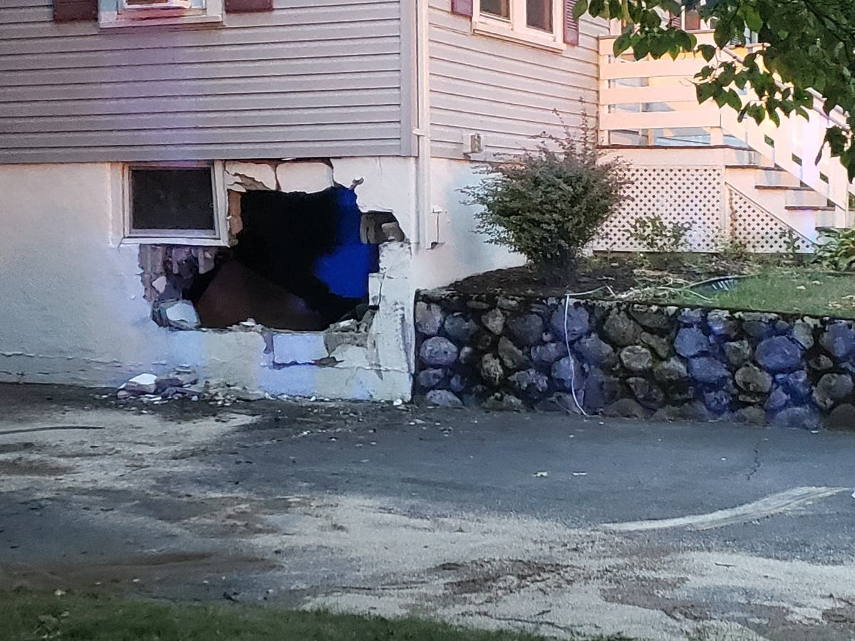 Pickup Truck Drives Into Melrose Home