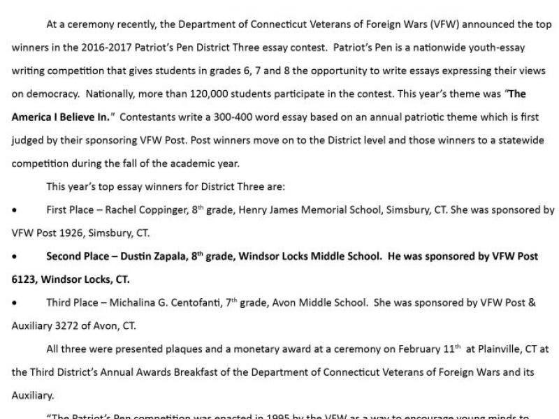 vfw citizenship award