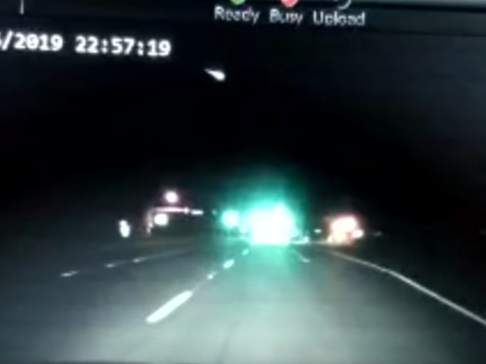 PGPD Officers Dashcam Captures Spectacular Meteor Footage