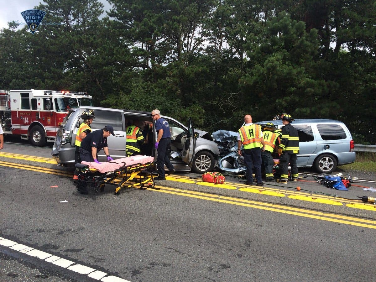 Rt  6 Open After 4-Car Harwich Crash   Barnstable, MA Patch