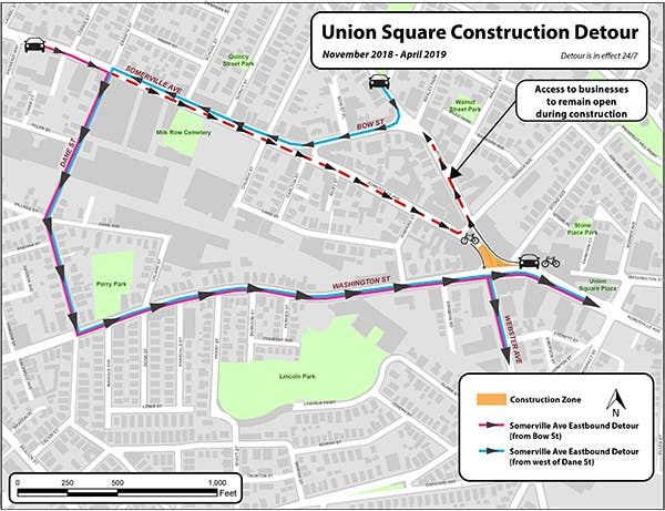 Union Square To See Road Closures, Bus Detours For 6 Months