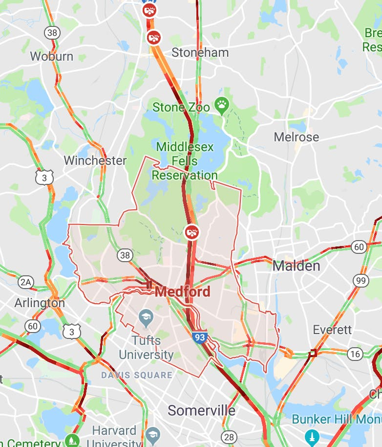 I 93 Car Fire Causes Heavy Delays Patch
