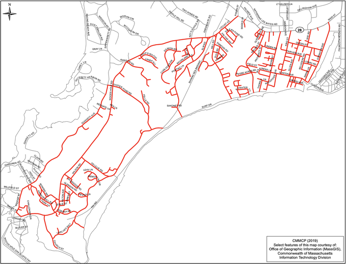 Falmouth EEE Mosquito Spraying Route, Timeline   Falmouth