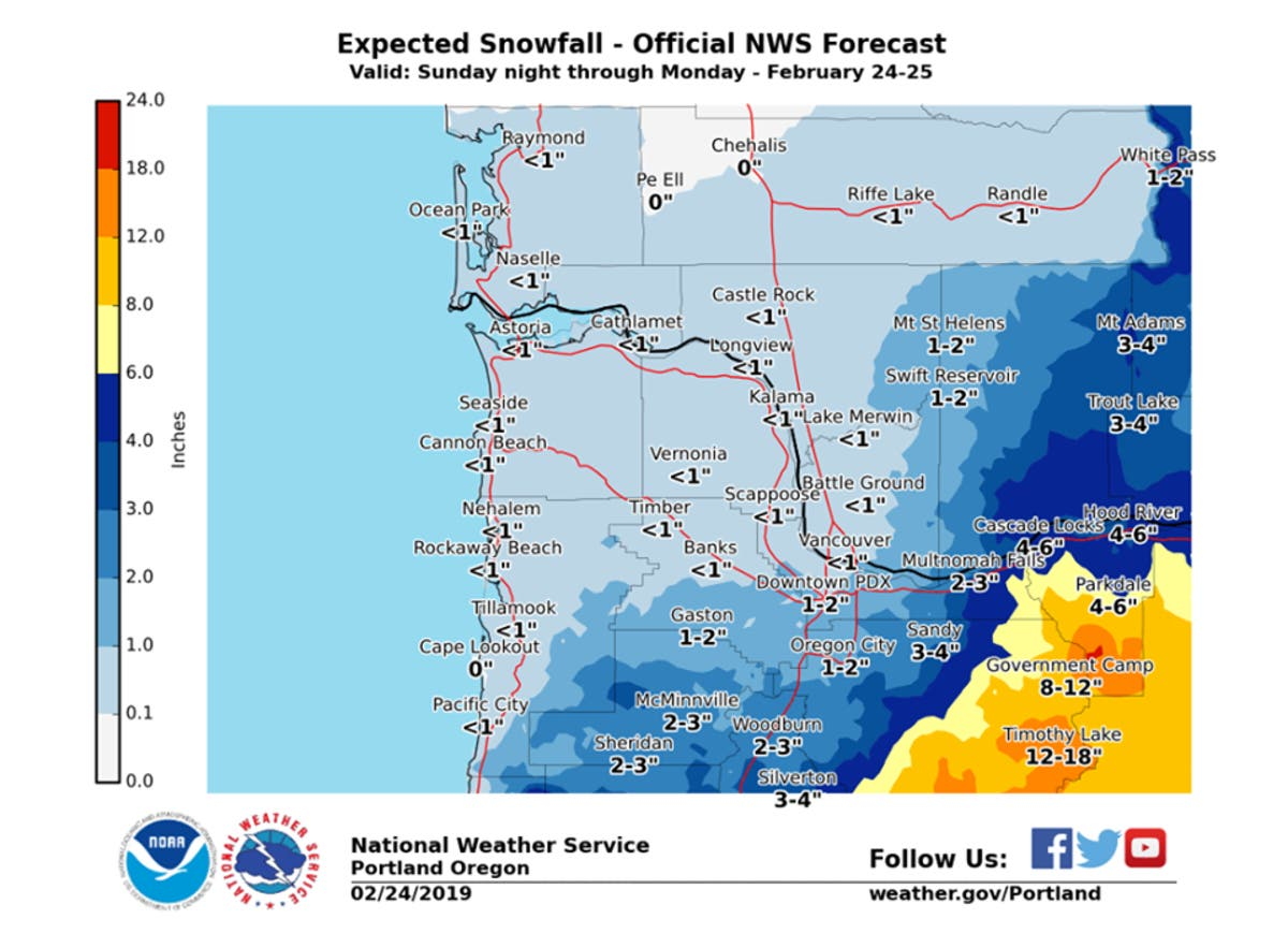 Portland Forecast Says Snow Overnight Will Bring Messy Am