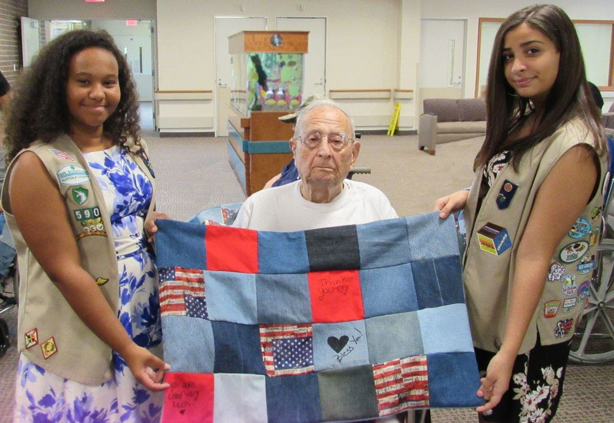 Girl Scout Cadettes Earn Silver Award Honoring Veterans At Gurwin