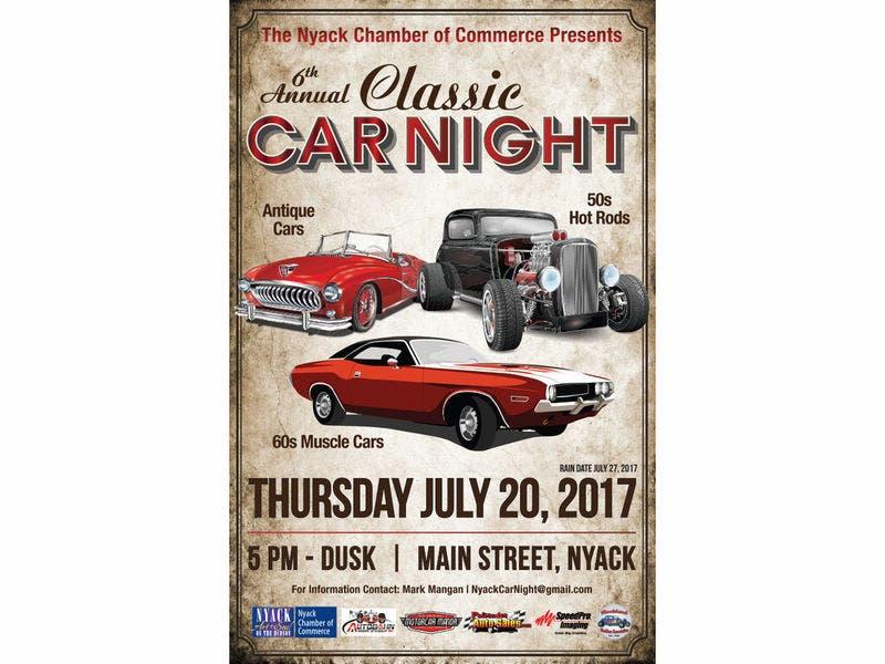 Don T Miss Nyack Chamber S Classic Car Night Nyack Ny Patch