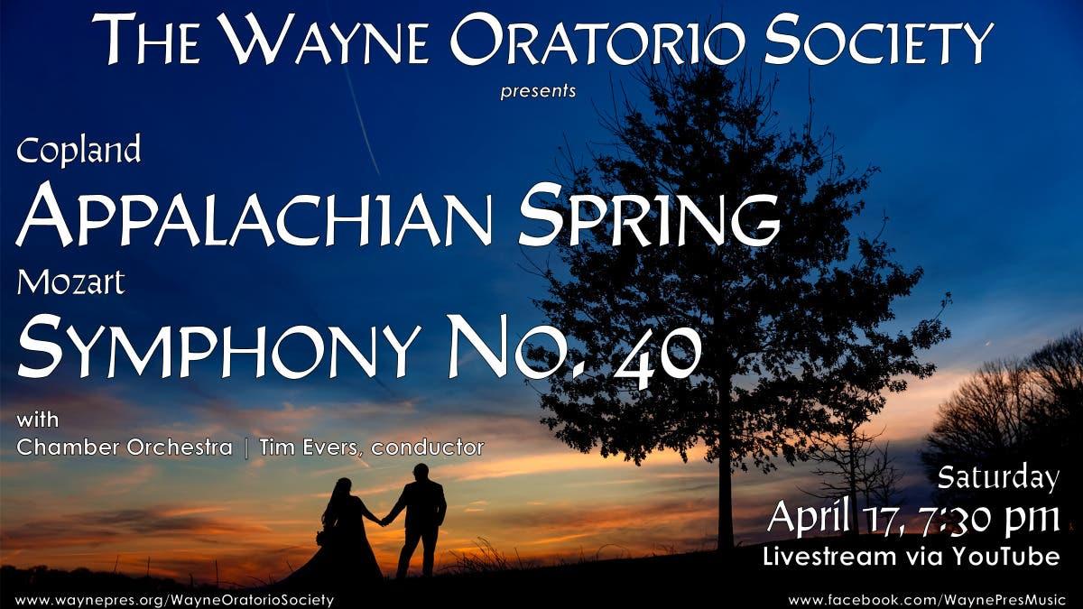 CONCERT:  Wayne Oratorio Society presents COPLAND & MOZART