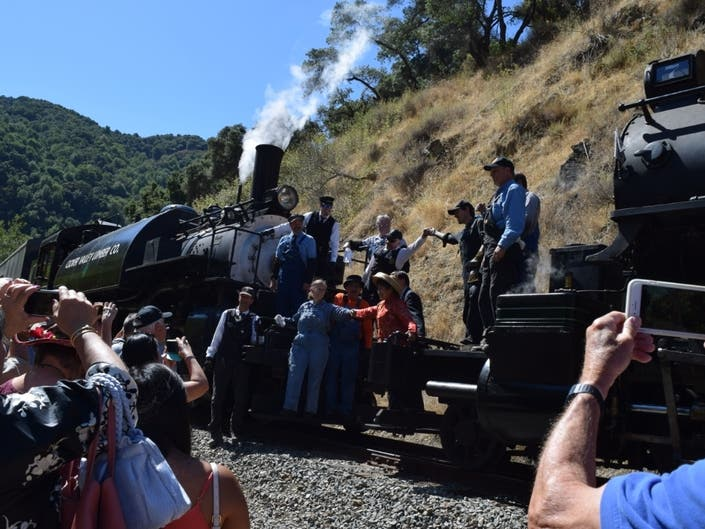 Golden Spike Ceremony Held To Honor Niles Canyon Railway