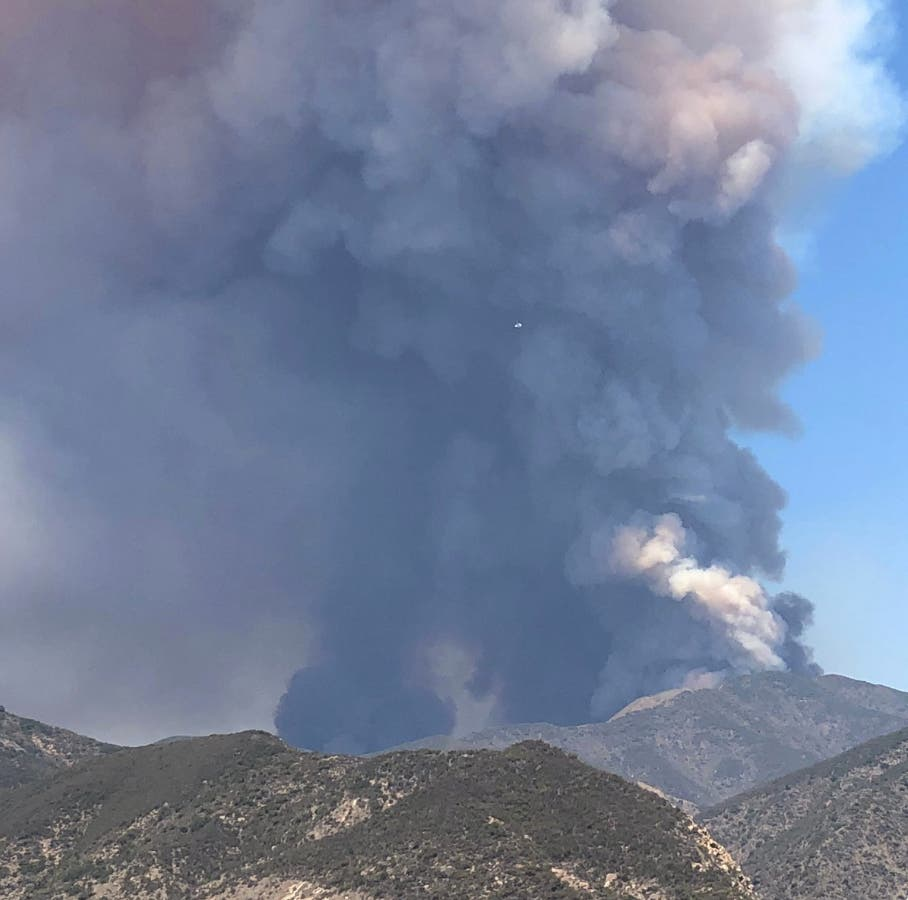 0b2ac92cf Holy Incident: Vegetation Fire in the Cleveland National Forest, across the  main divide between Orange/Riverside. Presently burning away from OC.