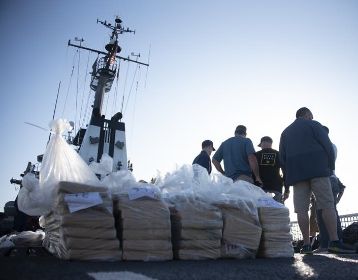 Coast Guard Offloads $92M In Seized Cocaine In San Diego