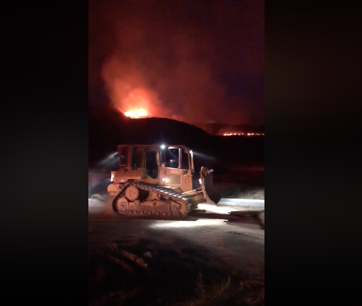 Brush Fire Breaks Out East Of Perris, Sends Red Glow Into Region
