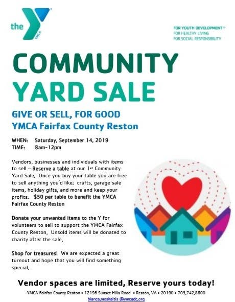 Sep 14 | YMCA Fairfax County Reston Community Yard Sale