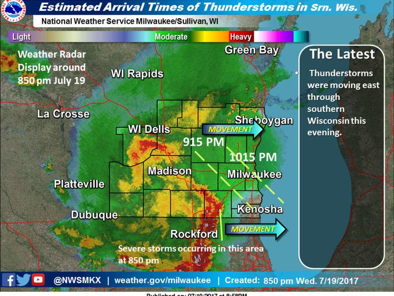Rockford Weather Map.Severe Thunderstorm Watch Until Midnight Tonight Greendale Wi Patch