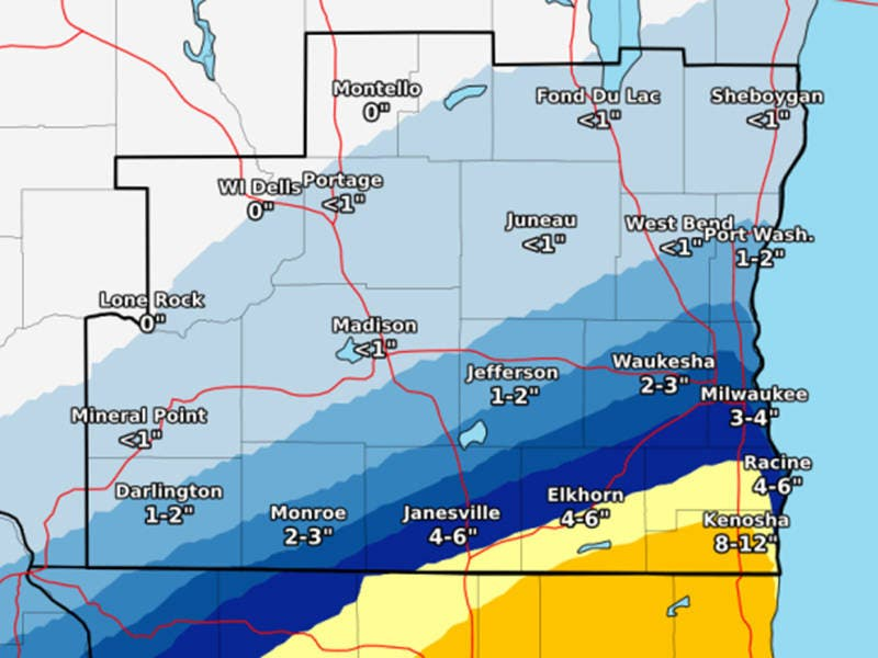 Wisconsin Weather Up To 12 Inches Of Snow Forecast Sunday Mount