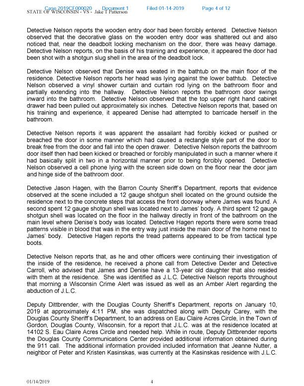 Criminal Complaint: Read Full Narrative Of Jayme Closs Abduction