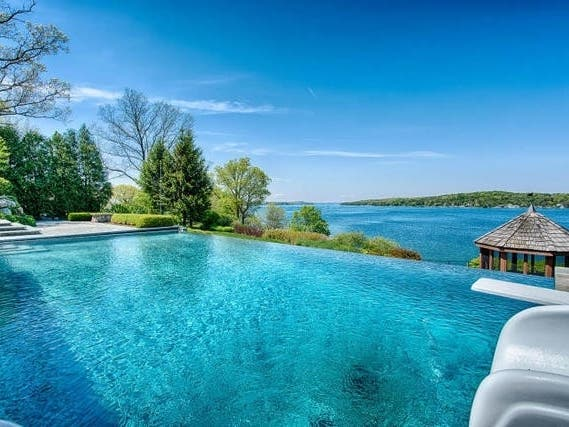 Dive Into This $4.2 Million Wisconsin Homes Infinity Pool